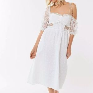 NWT For Love & Lemons Sadie White Lace Dress